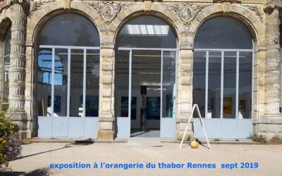 Exposition à l'Orangerie du Thabor de Rennes – du 16 au 22 septembre 2019