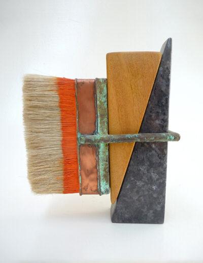 2012-Pinceau-Granit,Bois-HT 21 cm x 18 cm