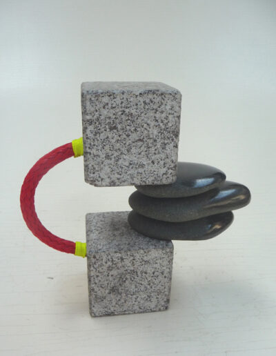 Loïc Hervé, 2020, Dualité Granit, Filin, HT 22cm x 22cm