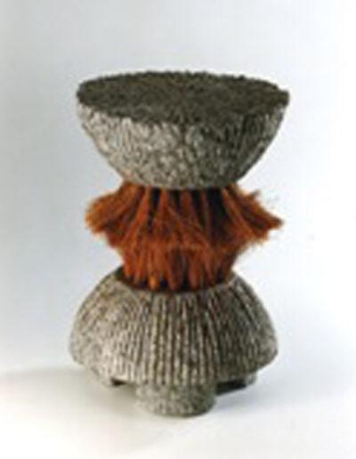 2012-Le poids des choses-Granit, Poils de coco-HT 30 cm x 20 cm