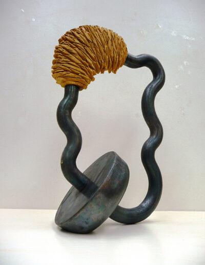 2013-Brise Lame-Acier, Bois-HT 48 cm x 30 cm